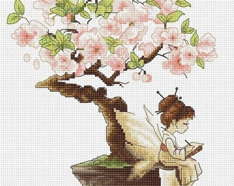 The Sakura SB1114 - Cross Stitch Kit by Luca-s