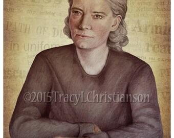 Dorothy Day Art Print, Servant of God #4212