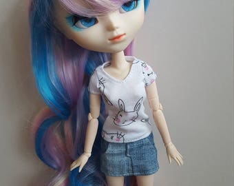 Bunny T-Shirt for Pullip doll