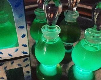 Lavender Essential Oil GLOWING Perfume in Glass Tear-drop Bottle