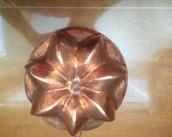 Vintage Heavy 7 Point Star Copper Mold