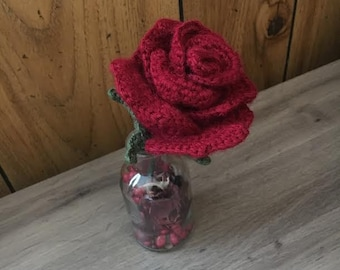 Aromatherapy Bright Red Rose - Fake Roses - Flowers in Vase with Potpourri - Mothers Day Gift for Her - Gifts for Mom - Housewarming Gift