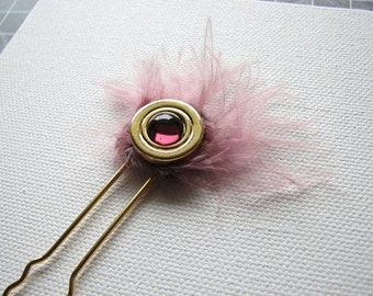 Metal hair stick | gold pin | pink | purple | hair fork | women | fashion | hair pin