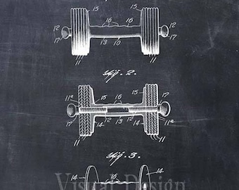Dumbbell Patent Print Dumbell Art Print Gym