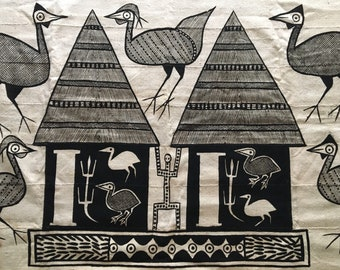 Mid Century Vintage Textile / Fiber Art
