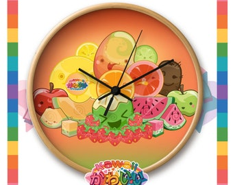 Univers kawaii - horloge Design mignon Classic Fruits Group
