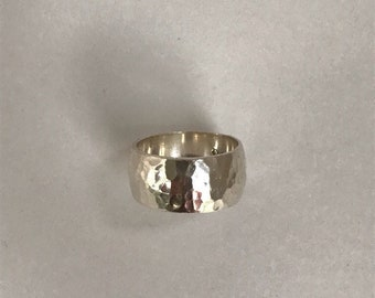 Silpada Sterling Silver Hammered Band Ring size 10