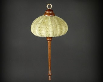 Ornament- Green Sea Urchin & Walnut Wood (OR60)