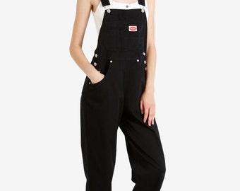 90s Deadstock Baggy Overall Pants - Black!