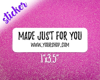 Made for You Labels / Custom Stickers / Made Just for You / Small Shop Packaging Stickers / Shipping Supplies / Shipping & Mailing Labels