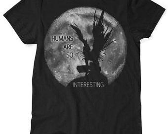Death Note - Ryuk - Humans are so interesting - Anime Tshirt - Black S M L XL XXL XXXL