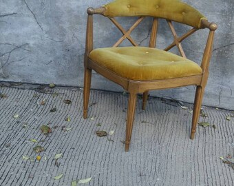 30% Off now on our #2 Favorited Mid Century Corner Chair Tufted/X Back/Pea-Olive