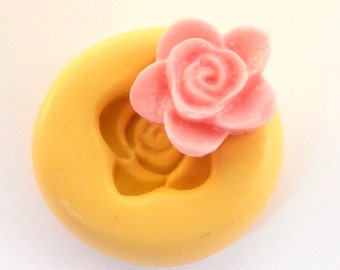 Flower, Rose Mold   Clay      Silicone Mold fondant mold resin mold