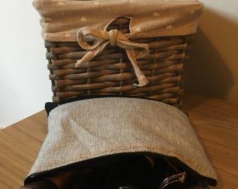 Small Grey Marl Cosmetic Bag