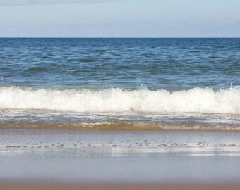 Beach Photography, Ocean Waves Photo, Coastal Decor, Beach Wall Art Print, Wave Picture, Surf Photograph, Blue Ocean Art, Shore, Ocean Print
