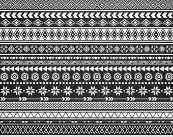 Chalkboard Tribal Borders Clipart Ethnic Borders Clip Art Native American Borders African Borders Aztec Borders Geometric Borders Clipart