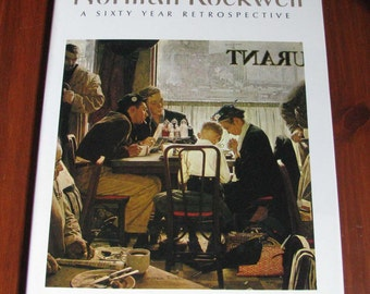 Norman Rockwell 60 year retrospective book, 1972, REDUCED