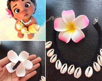 Baby Moana Necklace - Baby moana costume - Kids Size Cowry Shell Necklace