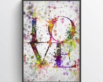 Love Poster, Love Print, Love Art, Love Home Decor, Love Decor, Home Decor, Gift Idea