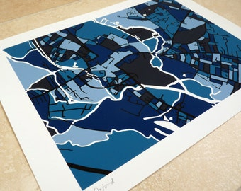 Oxford Art Map - Limited Edition Contemporary Giclée Print