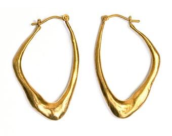 Gold Wing Shape Earrings