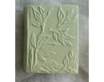 Handmade leather-bound blank book New Spring