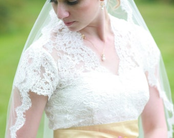 Lace Wedding Jacket - Short or Capped Sleeves