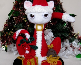 "PDFCrochet PATTERN_ ""MystiCat Christmas Party !"" _"