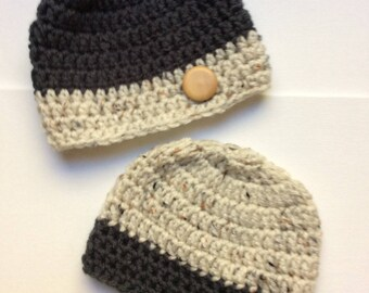 Sweet Baby Twin Two-Tone Beanie Hats