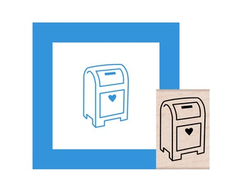 Mailbox Rubber Stamp