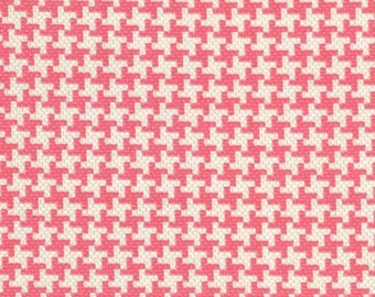 SALE 30% OFF Vintage Houndstooth in Salmon Premium Cotton Fabric by Michael Miller Fabrics