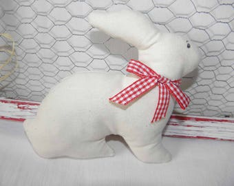 The toy fabric with red gingham for children and baby Ribbon