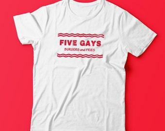 Quirky Original Five Gays Guys T-Shirt