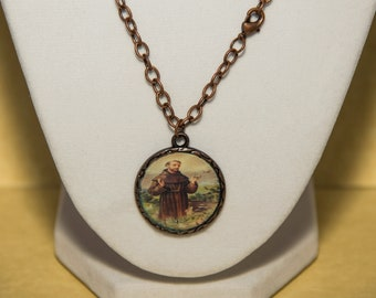 Saint Francis of Assisi Necklace - Free Shipping