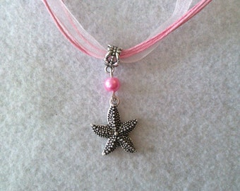 10 Sea Star Necklaces Party Favors