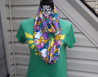 Adventure Time Flannel Infinity Scarf with Secret Pocket