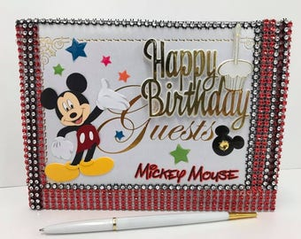 Mickey Mouse Guest Book Birthday Party Supplies