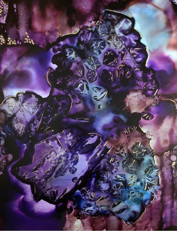 "Original Alcohol Ink Abstract Painting: ""New Dimension"""