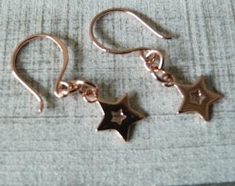 Star Earrings / 925 Silver / Rose Gold / Vermeil / Dangle Earrings / Drop Earrings /  Dainty Earrings