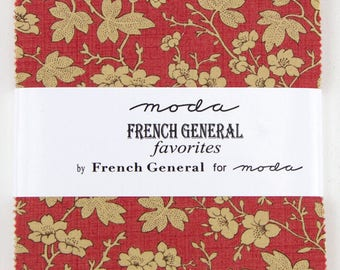 """Moda FRENCH GENERAL FAVORITES Charm Pack 42 5"""" Quilt Quilt Fabric Squares 903PP"""