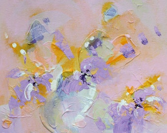Painting abstract painting Abstract wall art acrylic painting contemporary wall art abstract original art painting pastel painting Violet