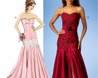 Sewing Pattern Strapless Evening Gown Pattern,  McCall's Sewing Pattern 7050