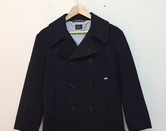 Lacoste Double Breasted Wool Jacket
