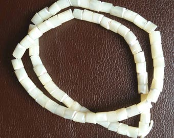 Mother of Pearl 5x5mm heishi, 15 inch strand