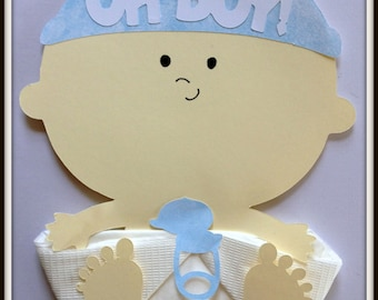 Baby Shower-Baby Shower Napkins-Baby Boy Shower Napkins-Baby Shower Favors-Baby Shower Decorations-Baby Boy Shower Decor-Oh Boy Baby Shower