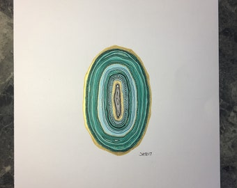 Turquoise Agate Drawing