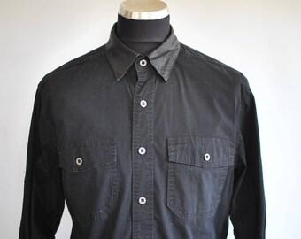 Vintage HARLEY DAVIDSON men's denim shirt , biker black shirt..........