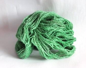 Lincoln Hand spun wool yarn, DK weight, Hand Dyed, Eco Friendly Wool Yarn, silver, grey, gray, pink