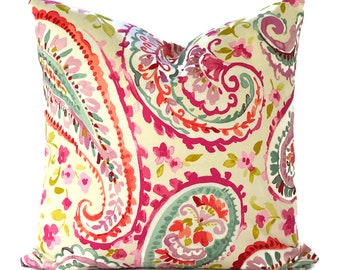 Pillow Covers Decorative Pillows ANY SIZE Pillow Cover P Kaufmann Watercolors Orchid