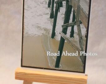 ACEO, ATC, Artist Trading Card, Seal Beach Pier, photography
